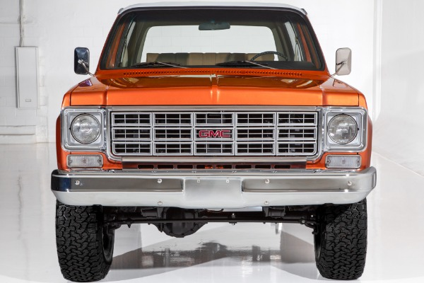 For Sale Used 1977 GMC Jimmy Orange metallic 350ci 4-Spd 4WD | American Dream Machines Des Moines IA 50309