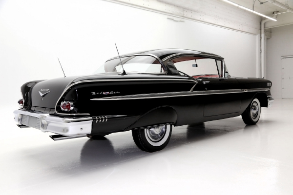 For Sale Used 1958 Chevrolet Bel Air Hardtop Black red, 348 | American Dream Machines Des Moines IA 50309