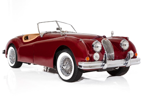 1957 Jaguar XK140 Burgundy Roadster 4-speed