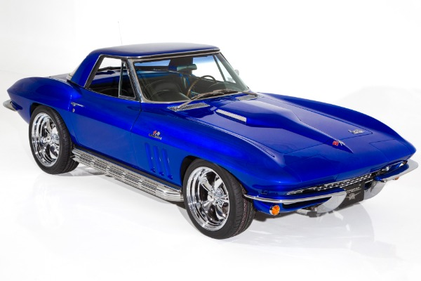 For Sale Used 1966 Chevrolet Corvette Electric Blue Stingray | American Dream Machines Des Moines IA 50309