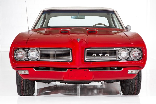 For Sale Used 1968 Pontiac GTO Solar Red  400ci, Auto, PS, PB | American Dream Machines Des Moines IA 50309