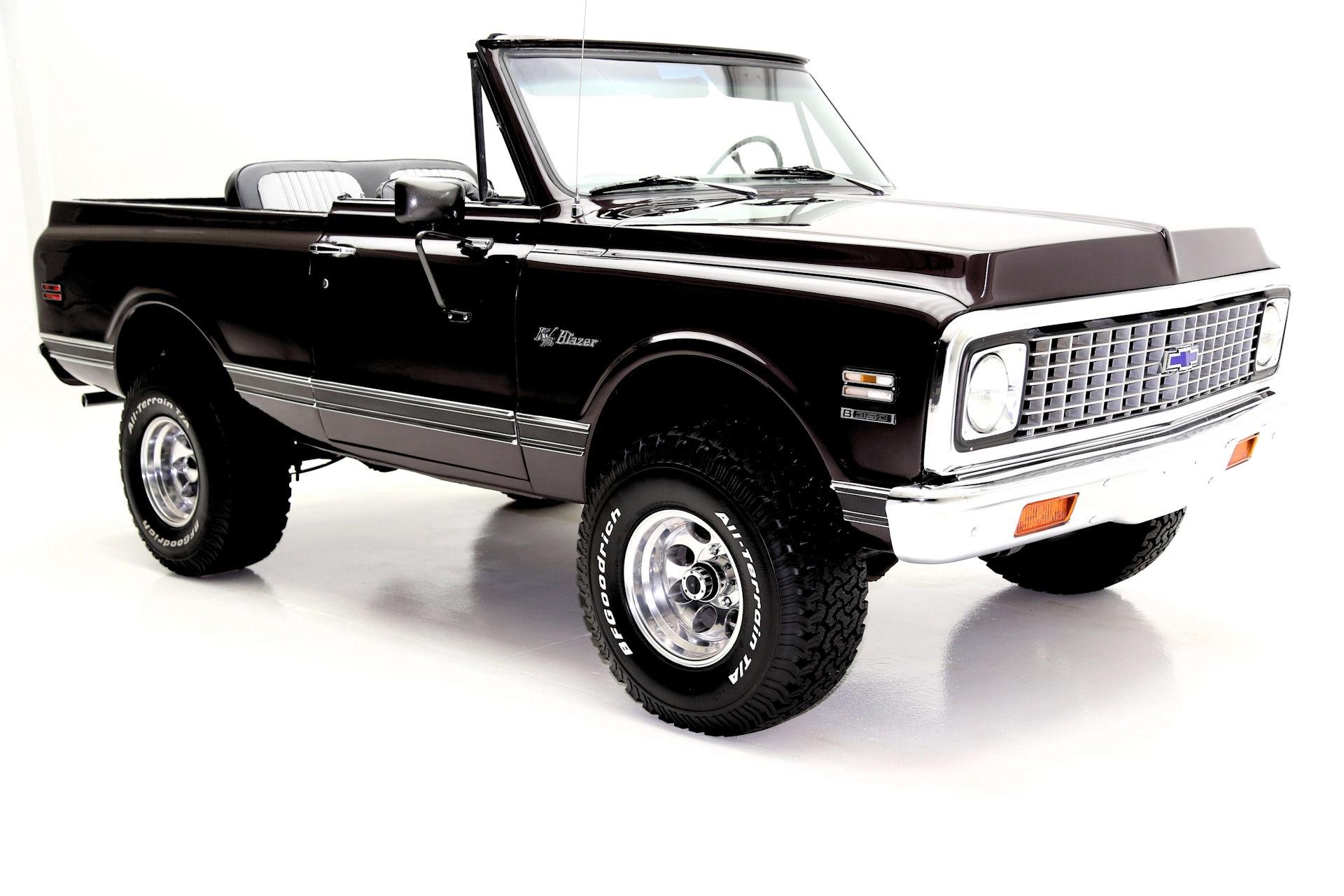 1972 Chevrolet K5 Blazer Black Cherry 4x4 Houndstooth