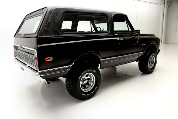 For Sale Used 1972 Chevrolet K5 Blazer Black Cherry, 4x4 Houndstooth | American Dream Machines Des Moines IA 50309