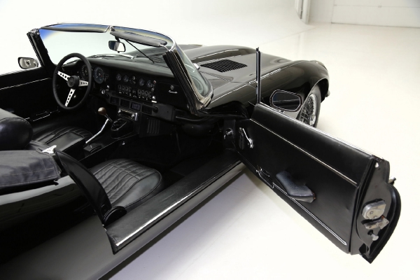 For Sale Used 1973 Jaguar XKE Convertible Triple Black | American Dream Machines Des Moines IA 50309