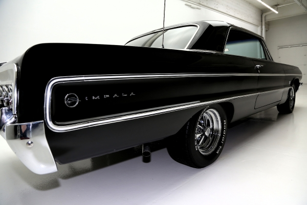 For Sale Used 1964 Chevrolet Impala black 409 5-speed Dana | American Dream Machines Des Moines IA 50309