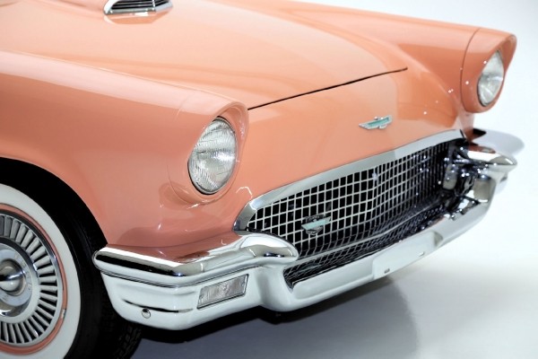 For Sale Used 1957 Ford Thunderbird convertible Coral Sand 312ci | American Dream Machines Des Moines IA 50309