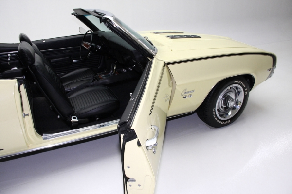 For Sale Used 1969 Chevrolet Camaro SS convertible Yellow/Blk 396 | American Dream Machines Des Moines IA 50309