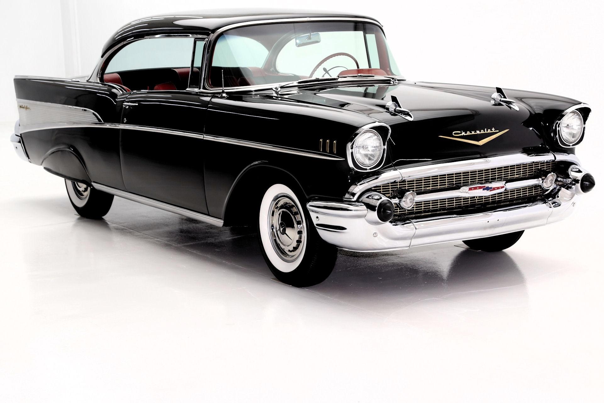 1957 Chevrolet Bel Air Black Red Amp Black Int 283 Auto
