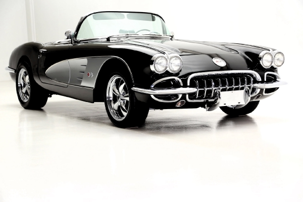 For Sale Used 1960 Chevrolet Corvette Convertible Black ProTour Styling | American Dream Machines Des Moines IA 50309