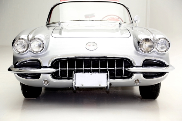 For Sale Used 1959 Chevrolet Corvette Convertible silver/red roadster | American Dream Machines Des Moines IA 50309