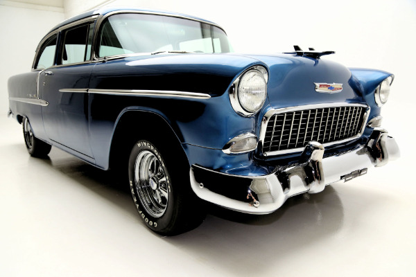 For Sale Used 1955 Chevrolet Bel Air 350 V8 digital dash, disc brakes | American Dream Machines Des Moines IA 50309