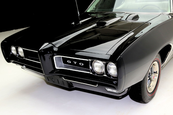 For Sale Used 1968 Pontiac GTO Black/Black PHS AC 400/350 | American Dream Machines Des Moines IA 50309