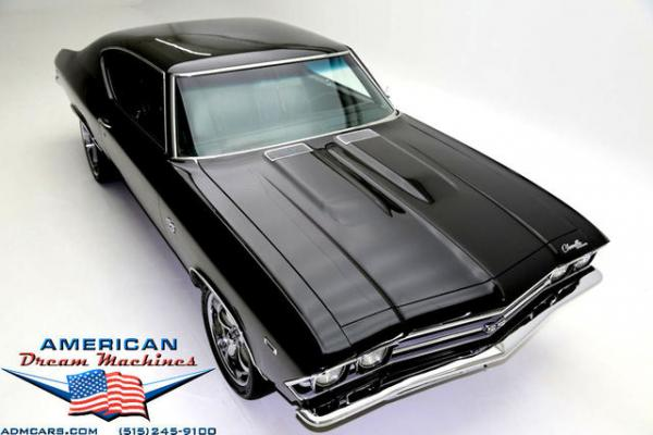 For Sale Used 1969 Chevrolet Chevelle, Real SS, 396 V8 BLack, Vintage AC | American Dream Machines Des Moines IA 50309