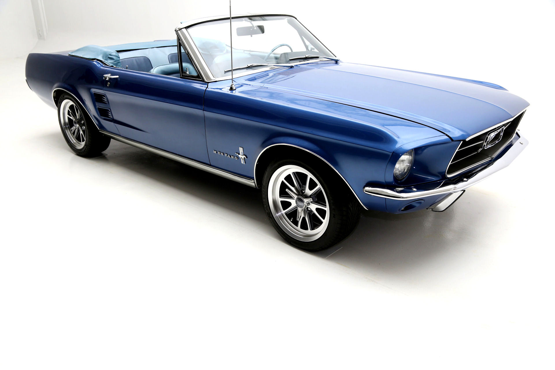 1967 ford mustang convertible acapulco blue new 302 engine