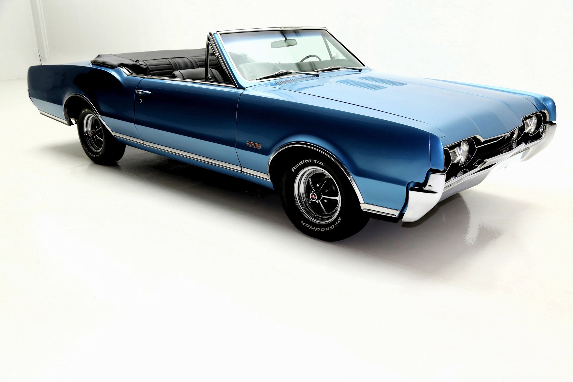 1967 Oldsmobile 442 Convertible Blue 400 4 Speed Rare