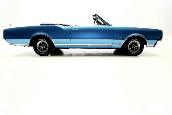 For Sale Used 1967 Oldsmobile 442 Convertible Blue 400 4 Speed Rare | American Dream Machines Des Moines IA 50309