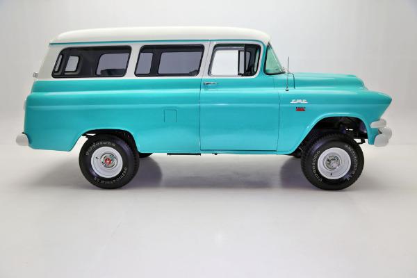 1957 GMC Suburban VERY RARE NAPCO 4WD, 4-SPEED -