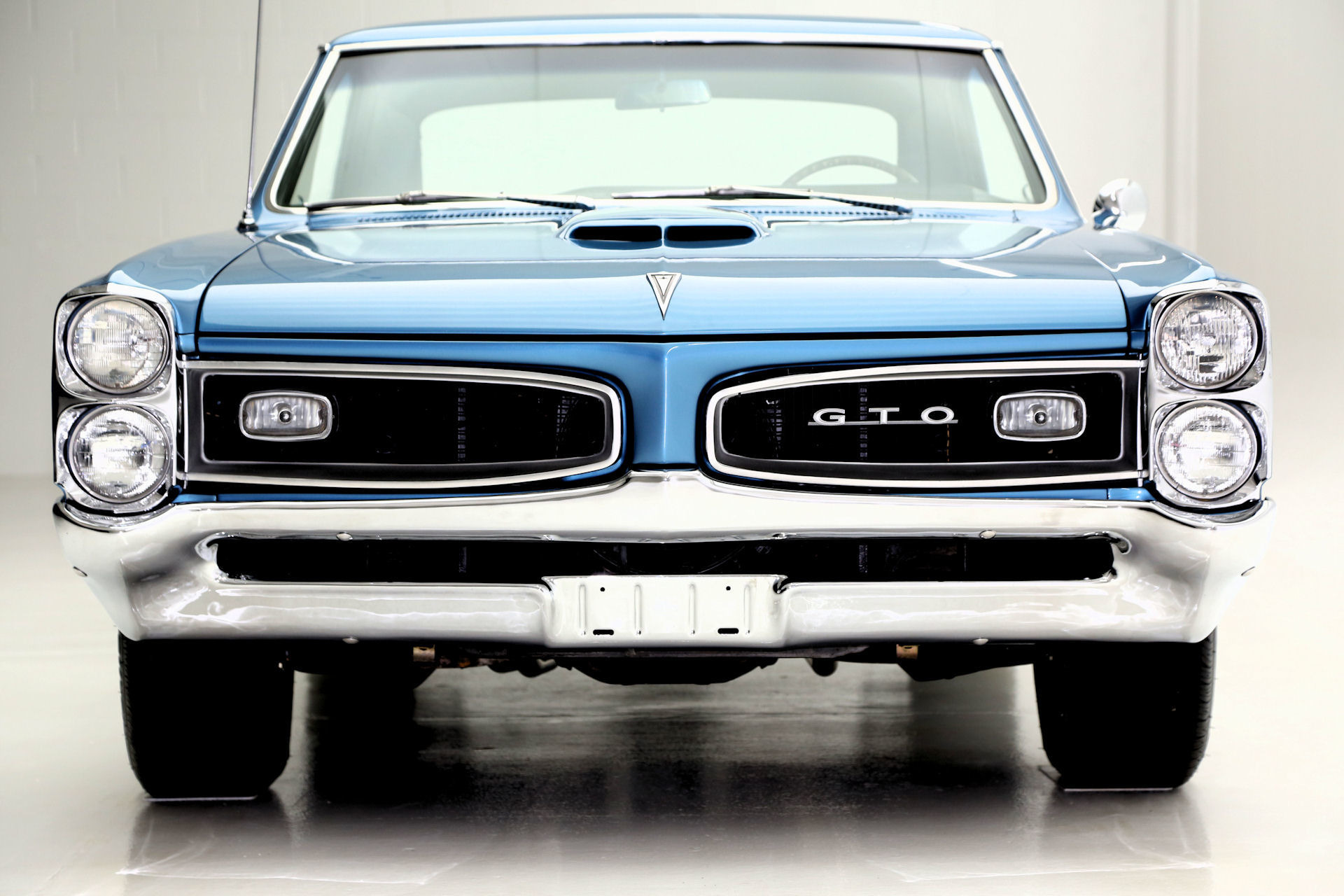 1966 Pontiac Gto Gorgeous Blue Metallic Black Int 4spd