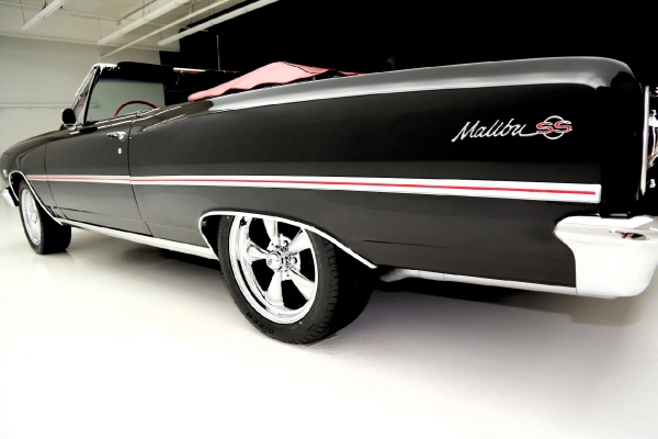 For Sale Used 1965 Chevrolet Chevelle Convertble Black/red 396 12 Bolt | American Dream Machines Des Moines IA 50309