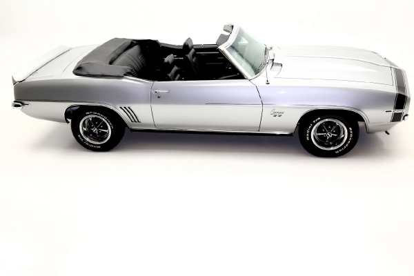 For Sale Used 1969 Chevrolet Camaro Cortez Silver/Black Int convertible, | American Dream Machines Des Moines IA 50309