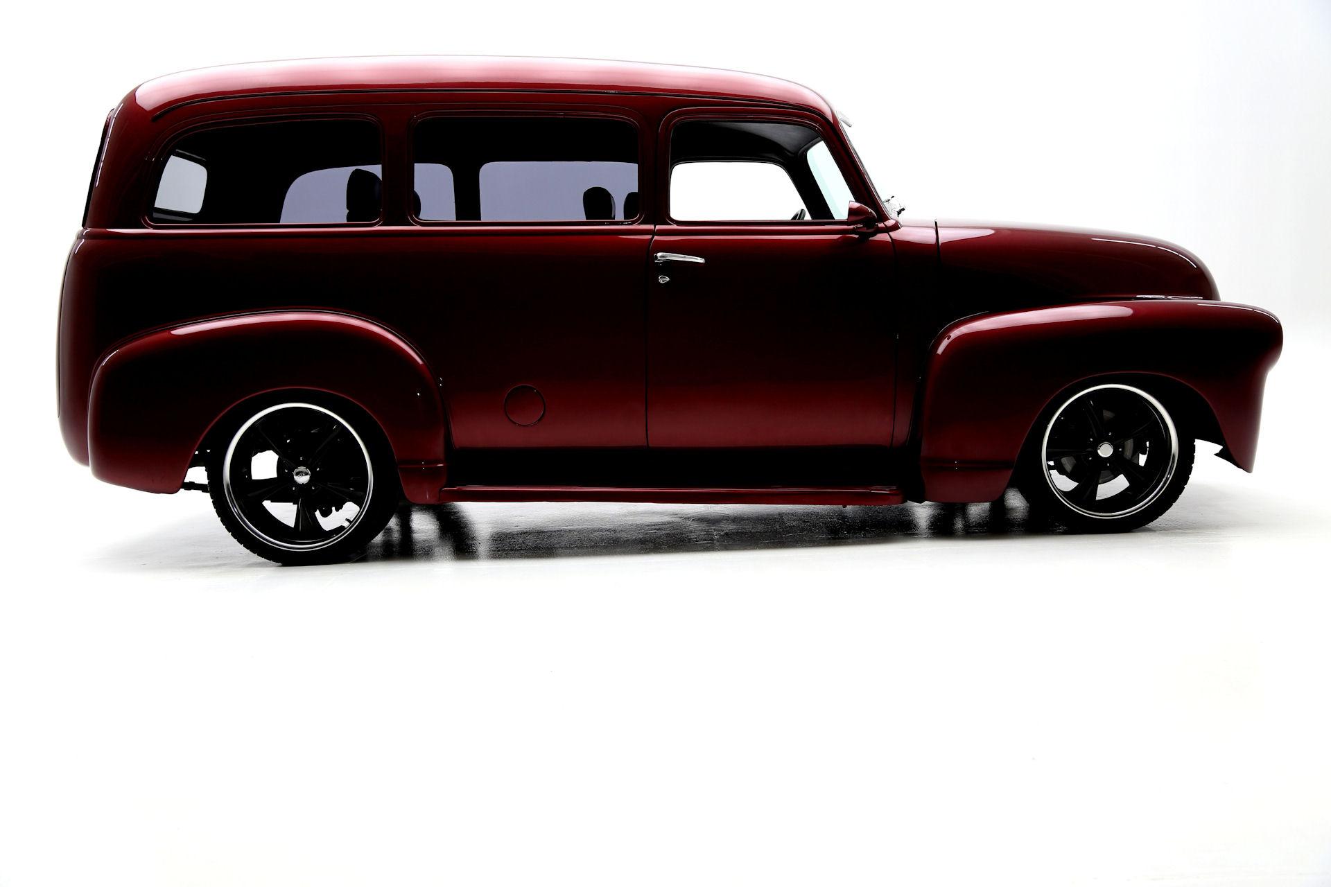 1951 Chevrolet Suburban Burgundy,Black Leather, RestoMod - American ...