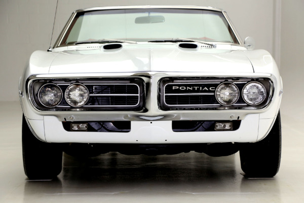 For Sale Used 1967 Pontiac Firebird WHITE, RED INT, CONVERTIBLE | American Dream Machines Des Moines IA 50309