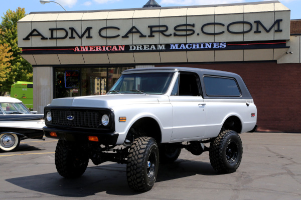 For Sale Used 1971 Chevrolet Blazer SATIN SILVER, NEW BLK IN, LIFT | American Dream Machines Des Moines IA 50309