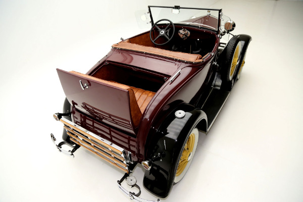 For Sale Used 1930 Ford Model A Roadster Two Tone, Burgundy & Black | American Dream Machines Des Moines IA 50309
