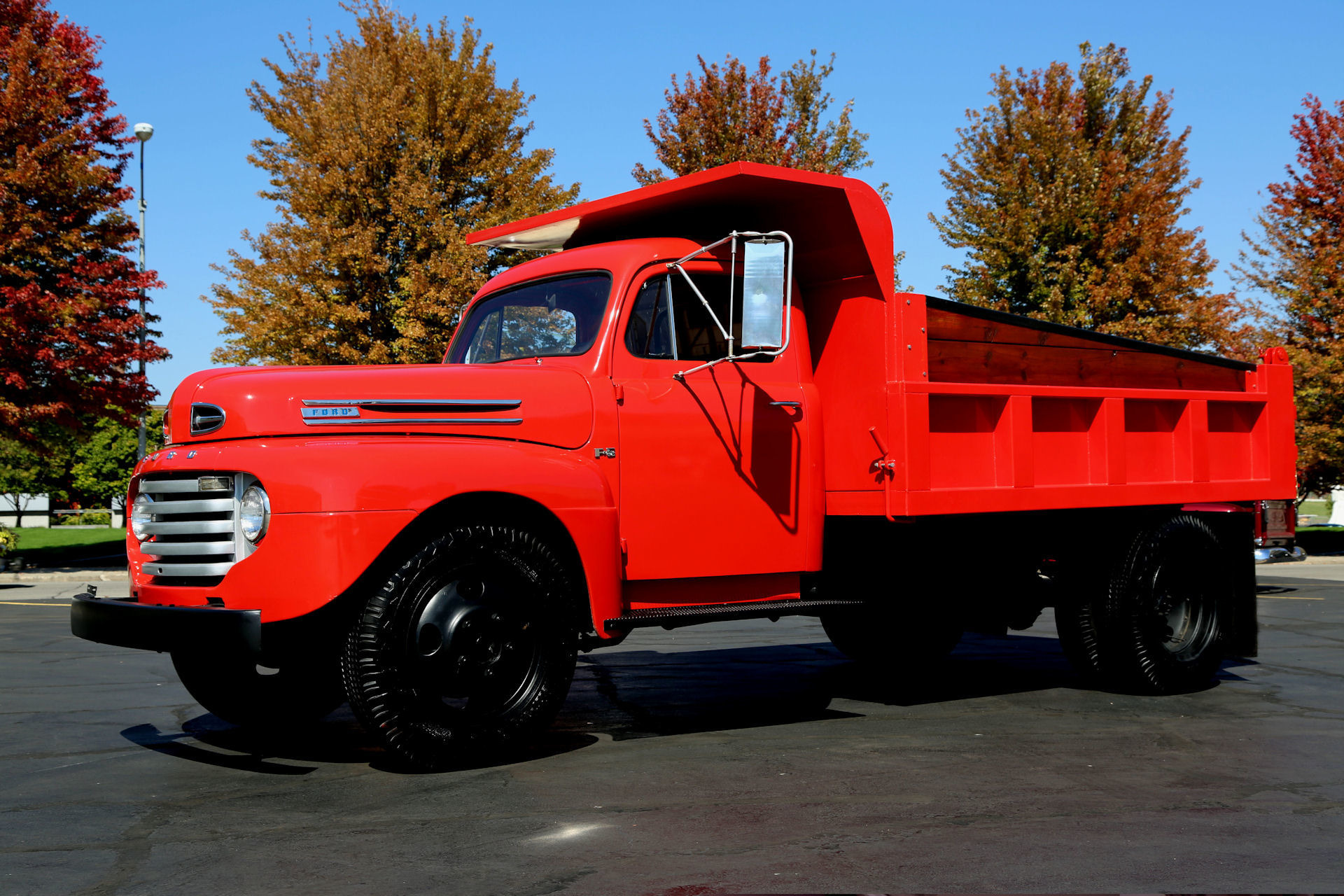 Used Cars Des Moines >> 1949 Ford F5 DUALLY RED, 350CI, AUTO, DUMP TRUCK