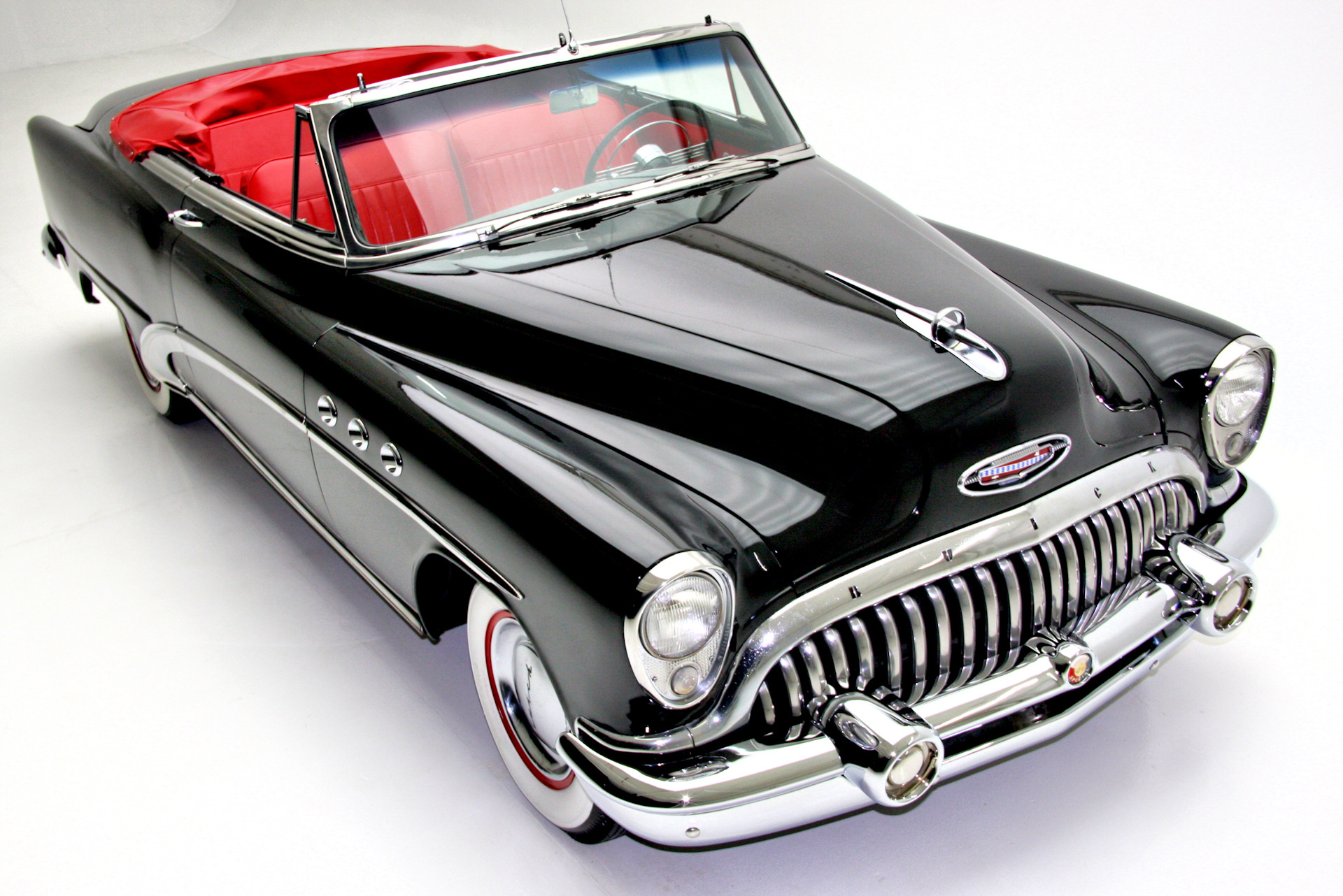 For Sale Used 1953 Buick Special Convertible Rare Black & Red | American Dream Machines Des Moines IA 50309