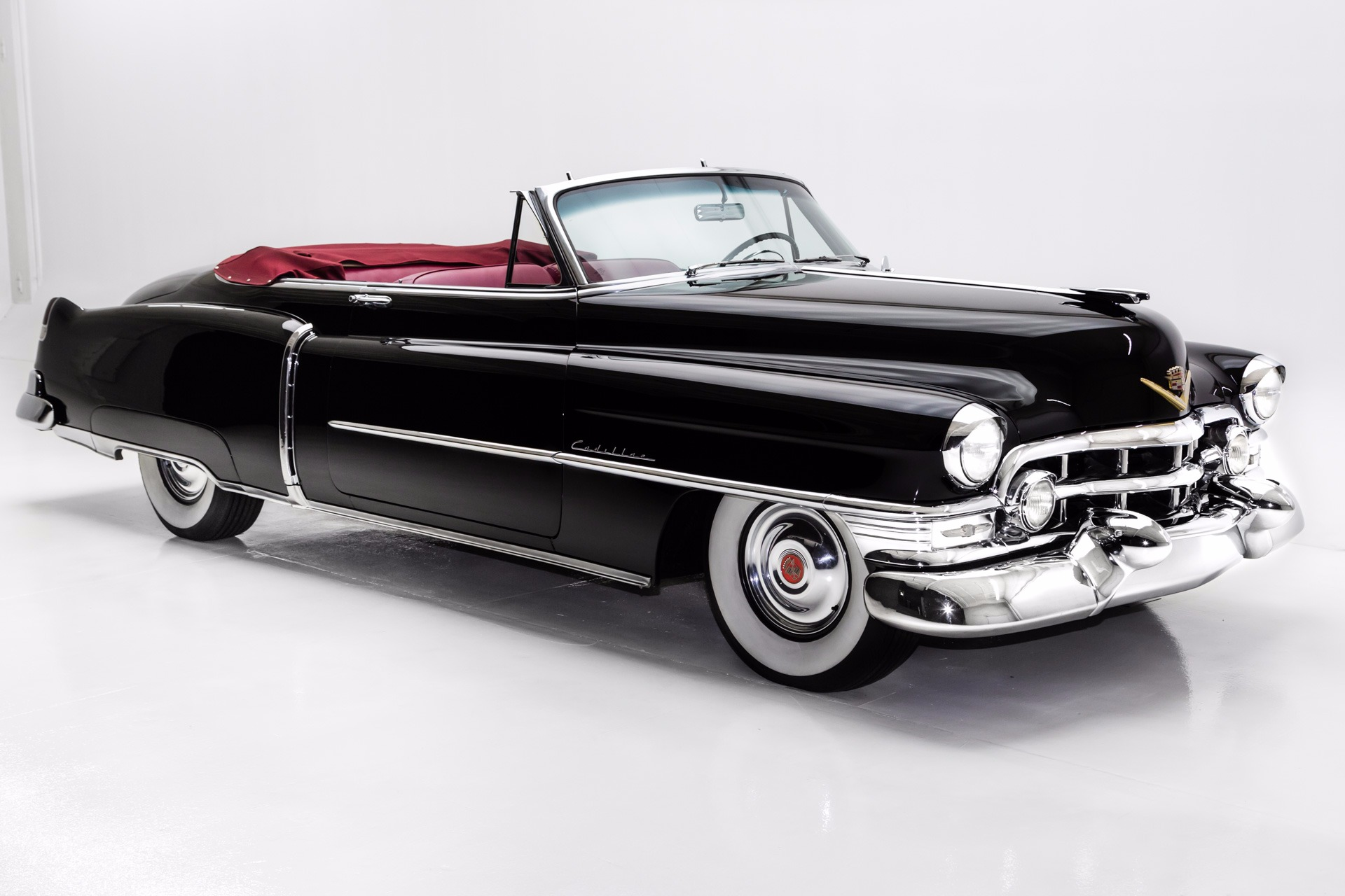 1952 cadillac series 62 convertible red leather american dream machines classic cars. Black Bedroom Furniture Sets. Home Design Ideas