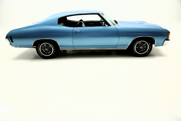 For Sale Used 1972 Chevrolet Chevelle Super Sport SS, Blue,black int,#s Match | American Dream Machines Des Moines IA 50309