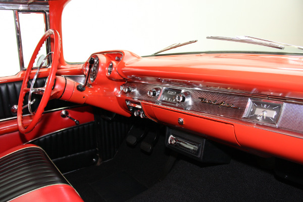 For Sale Used 1957 Chevrolet Bel Air Hardtop Black & red interior, 283 | American Dream Machines Des Moines IA 50309