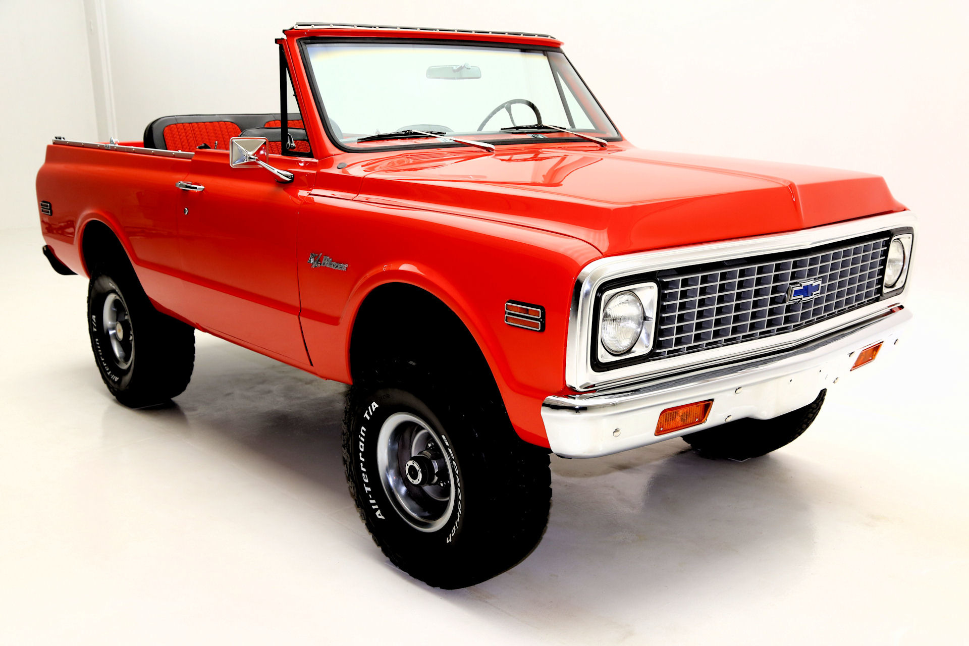 1972 Chevrolet Blazer K5 Orange Houndstooth Int