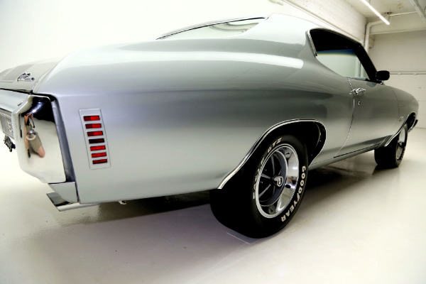For Sale Used 1970 Chevrolet Chevelle Super Sport Silver, True SS,4 Speed | American Dream Machines Des Moines IA 50309