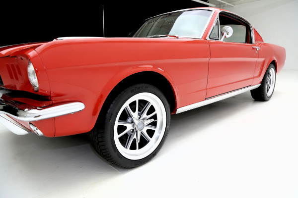 For Sale Used 1965 Ford Mustang Fastback Red/red w/white shelby stripes, | American Dream Machines Des Moines IA 50309