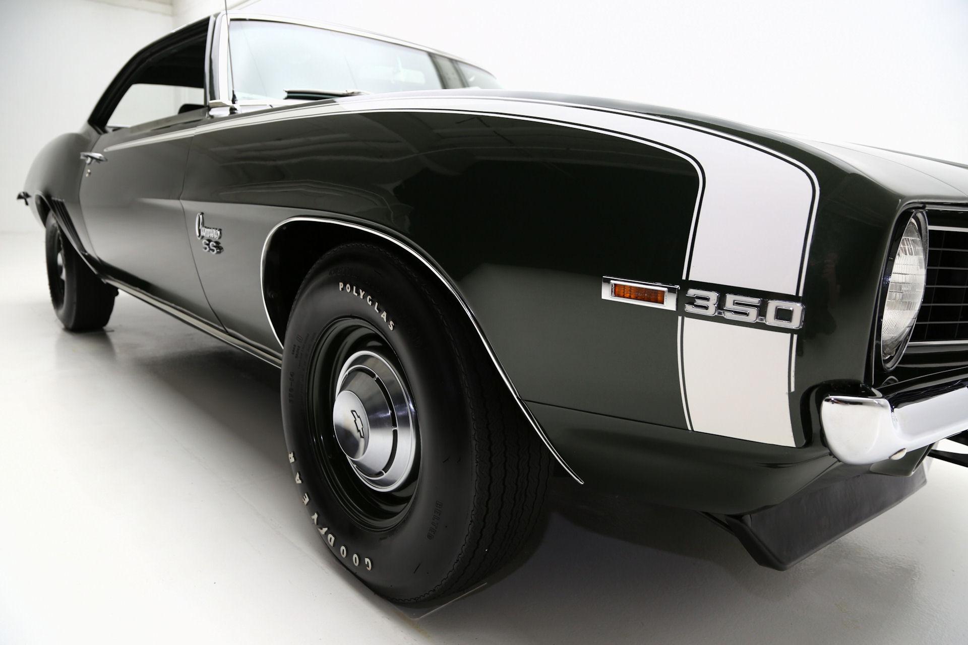 1969 Chevrolet Camaro Fathom Green Super Sport, X55, Docs - American ...