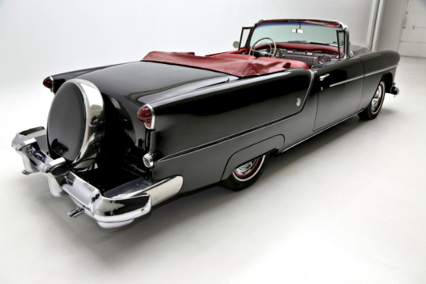 1954 oldsmobile 88 black red interior continental kit american dream machines classic cars. Black Bedroom Furniture Sets. Home Design Ideas