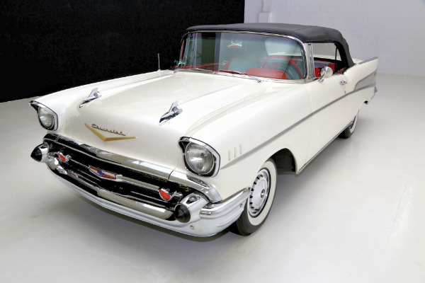 For Sale Used 1957 Chevrolet Belair Pearl white V8 Auto | American Dream Machines Des Moines IA 50309