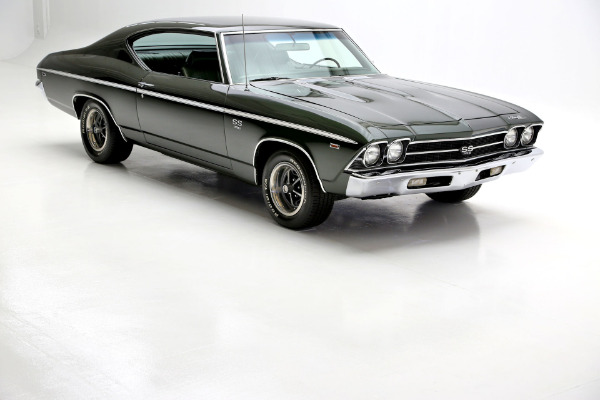 For Sale Used 1969 Chevrolet Chevelle Fathom Green 396 A/C | American Dream Machines Des Moines IA 50309