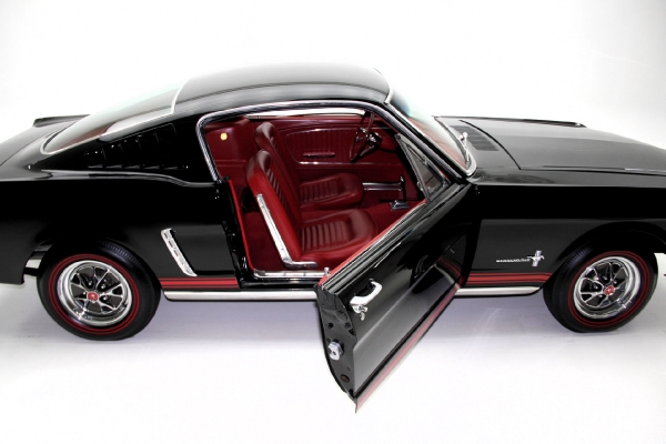 For Sale Used 1965 Ford Mustang Fastback A-code Black/red | American Dream Machines Des Moines IA 50309