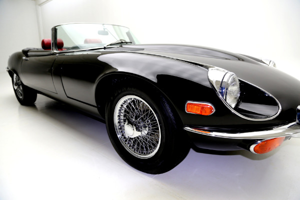 For Sale Used 1971 Jaguar E-Type Black/Red, v12, AC 4spd | American Dream Machines Des Moines IA 50309