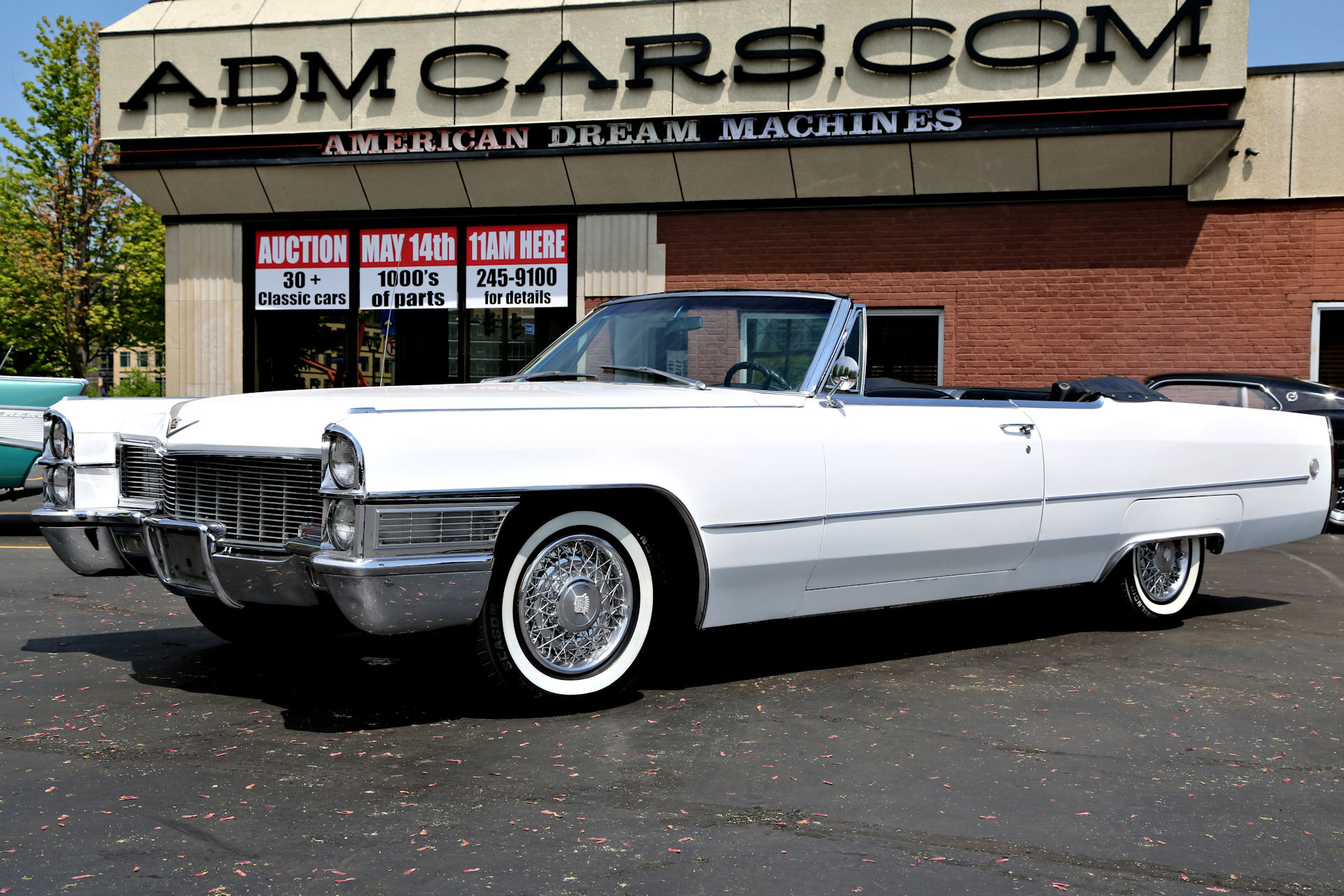 1965 Cadillac DeVille Convertible White/Black,429ci PS,PB ...