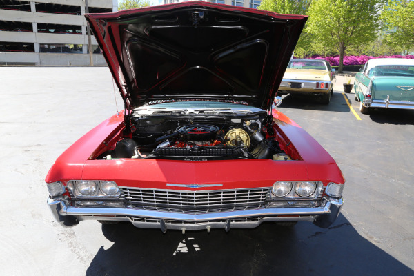 For Sale Used 1968 Chevrolet Impala Convertible Red 396/325hp #'s Match.12 Bolt. (SELLING AT AUCTION, LOW RESERVE, MAY 14TH | American Dream Machines Des Moines IA 50309