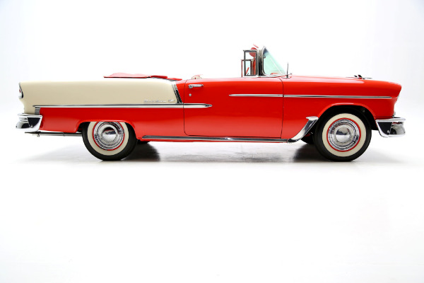1955 Chevrolet Bel Air Convertible Bright Red PS PB