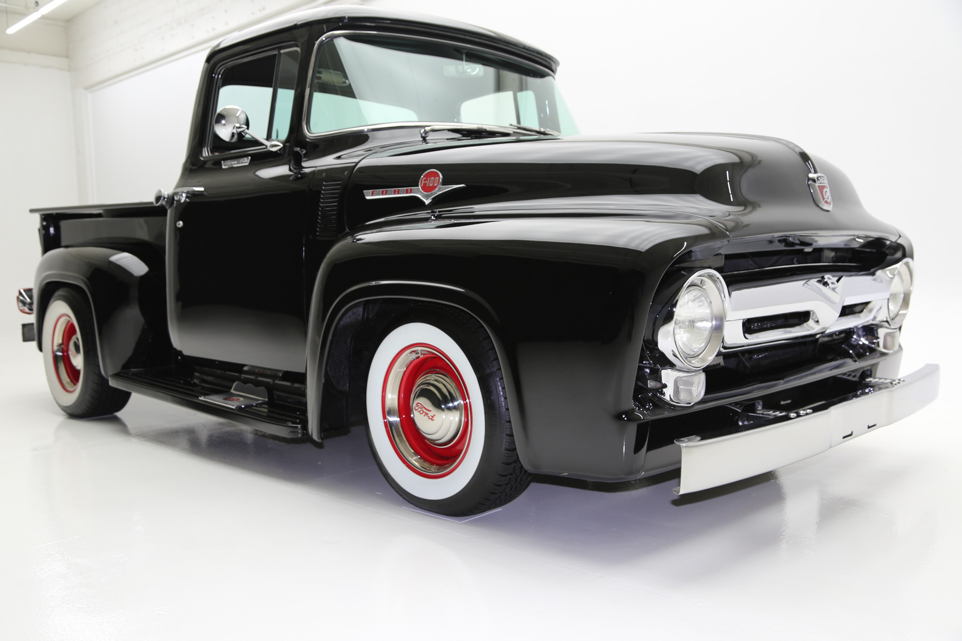 1956 ford f100 custom custom vintage interior american dream machines classic cars muscle cars. Black Bedroom Furniture Sets. Home Design Ideas