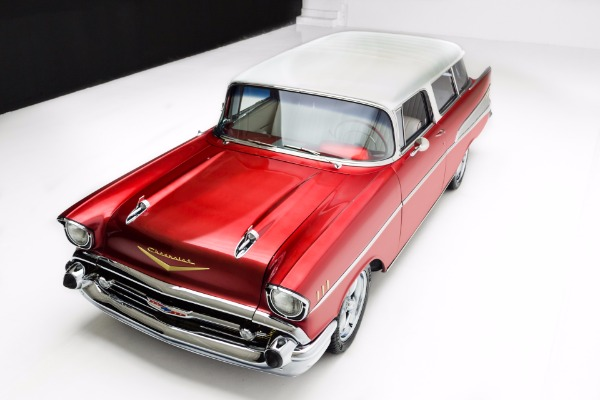 For Sale Used 1957 Chevrolet 210 Candy Red Pro-Tour AC | American Dream Machines Des Moines IA 50309