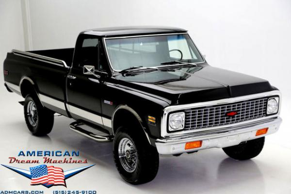 1972 Chevrolet K20 Cheyenne pickup Black 4x4 Frame off -
