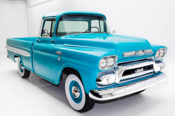 For Sale Used 1959 GMC Pickup Fleetside Big Back Window V8 | American Dream Machines Des Moines IA 50309