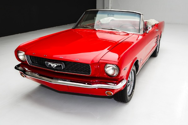 For Sale Used 1966 Ford Mustang Red/Red Convertible 289 | American Dream Machines Des Moines IA 50309